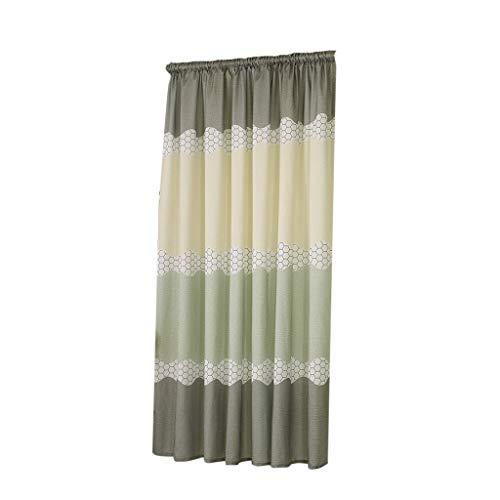 VICKY-HOHO Vorhang Swags, Balkon Schlafzimmer Breiten Streifen halben Verdunkelungsvorhang Stoff Home Textiles