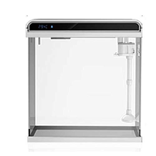 Hjd Aquarien Glas-Fisch-Behälter Wohnzimmer Desktop-Aquarium, Zuchtbecken for Fische, Keine Notwendigkeit, das Wasser Goldfisch-Behälter zu ändern Aquarien