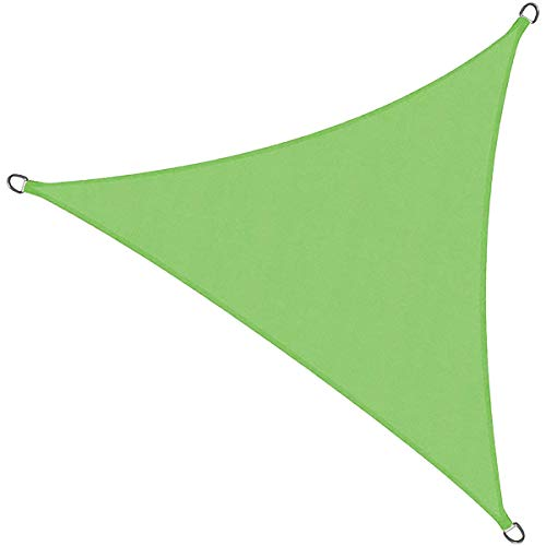 ASDF Toldo Vela de Sombra Triangular, Toldo Vela de Sombra Patio, Prueba de Viento protección 90% UV, Transpirable Paño de Oxford,para Patio, Exteriores, Jardín