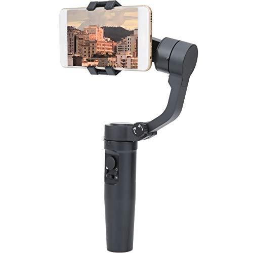 Lazmin112 Estabilizador de teléfono, 3 Ejes Estabilizador de teléfono móvil de Mano Gran Angular Horizontal Infinito Giratorio 3-para Vlogger Youtuber