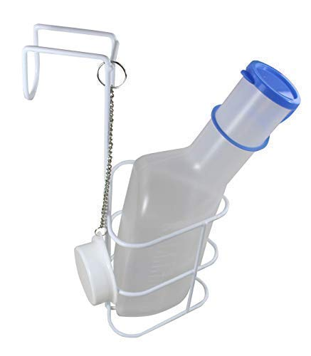 Medi-Inn Urinflasche PP für Männer | 1 Liter Fassungsvermögen | autoklavierbar | mit Betthalter