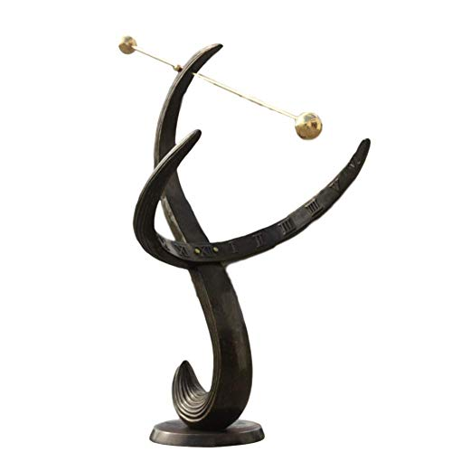 Steinfiguren Horn Sonnenuhr 85cm aus Bronze für den Garten