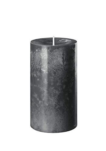 safe candle Trendkerze selbstverlöschend, 4 Stück, Höhe 13 cm/Ø 7 cm, 59 Std. Brenndauer (Anthrazit)
