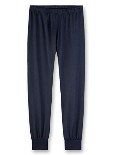 Sanetta Pantalones de pijama para niño Azul (Slate Blue 5337). 140 cm