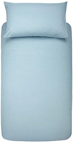 AmazonBasics - Set copripiumino in microfibra con federa, 135 x 200 cm con una federa da 50 x 80 cm, Blu spa