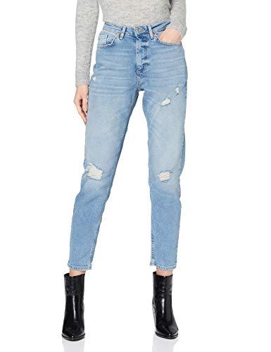 Only ONLVENEDA Life MOM Destroy Jeans BB REA, Denim Bleu médium, M/Taille Courte Femme