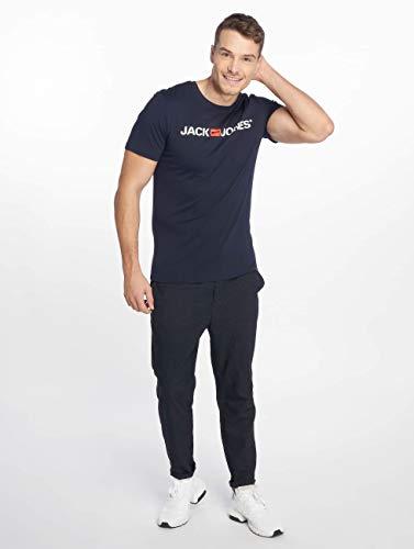 Jack & Jones Jjecorp Logo tee SS Crew Neck Noos Camiseta, Azul (Navy Blazer Detail: Slim Fit), X-Large para Hombre