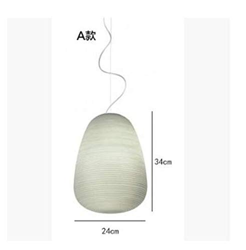 Foscarini Rituals hanglamp, hanglamp, hanglamp van wit glas, E27, hanglamp voor eetkamer, woonkamer, bar restaurant AC 80-265 V 1139