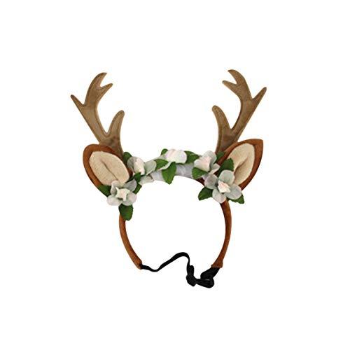 GODNECE Gewei hoofdband gewei haarband Kerstmis voor honden/katten, Medium, 1