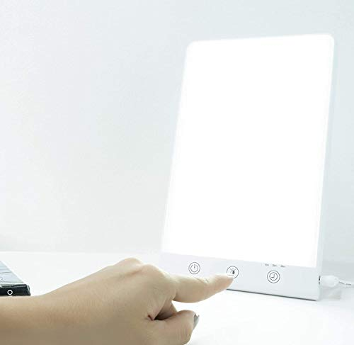 Light Therapy Lamp & Happy Box for Mood. Helps Mood with Bright Lights. UV Free Portable LED Bright White with Adjustable Brightness for Home & Office Use.