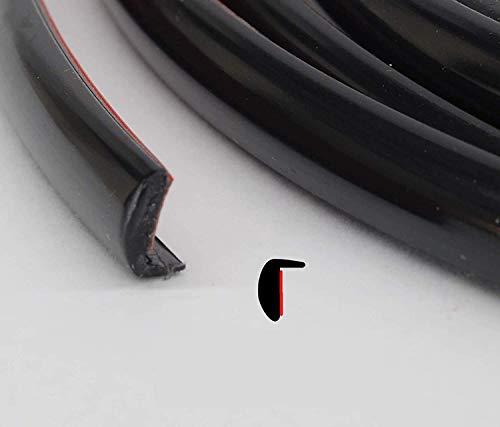 TRUE LINE Automotive Black Door Edge L Shape Molding Kit with 3M Tape (12 Foot)