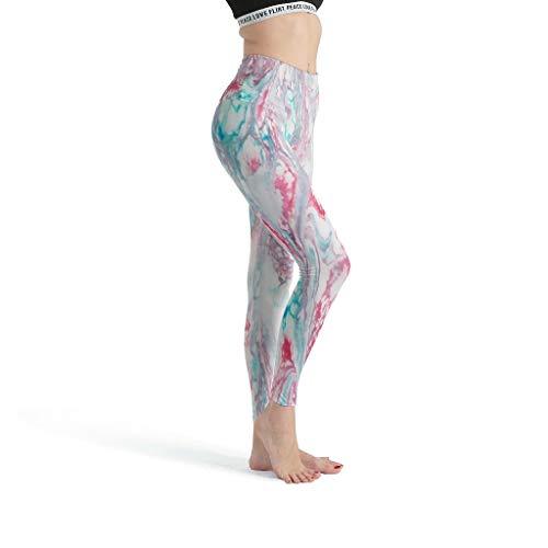 shenminqi Marble Texture- Leggings personalizados para mujer, con estampado suave, para yoga, para la escuela