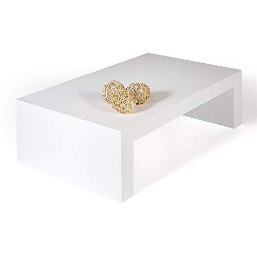 Mobilifiver Tavolino da Salotto, First H30, Frassino Bianco, 90 x 54 x 30 cm