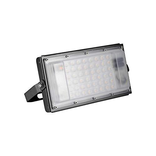 Horypt Projecteur LED 50W extérieur, Spot LED 5000LM Super Lumineux, Projecteur IP65 LED pour Terrain de Sport, Jardin, Garage, arrière-Cour, Blanc Chaud 3000K [Classe énergétique A ++]