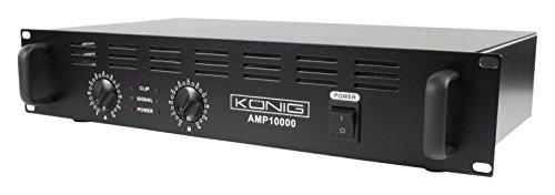 König PA-AMP10000-KN semi-professionele DJ-versterker (2 x 500 watt)