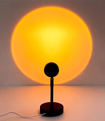 Lámpara Escritorio LED, Lámpara de Escritorio Creativa del Atardecer, 2 Estilos, Plug-In Usb, Pantalla de Cristal, Utilizado Para el Fondo de Transmisión en Vivo Atmósfera Lámpara de Proyector,A