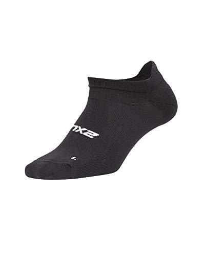 2XU Damen Low Rise Sock-WQ5337e Socken, schwarz/weiß, XS-S