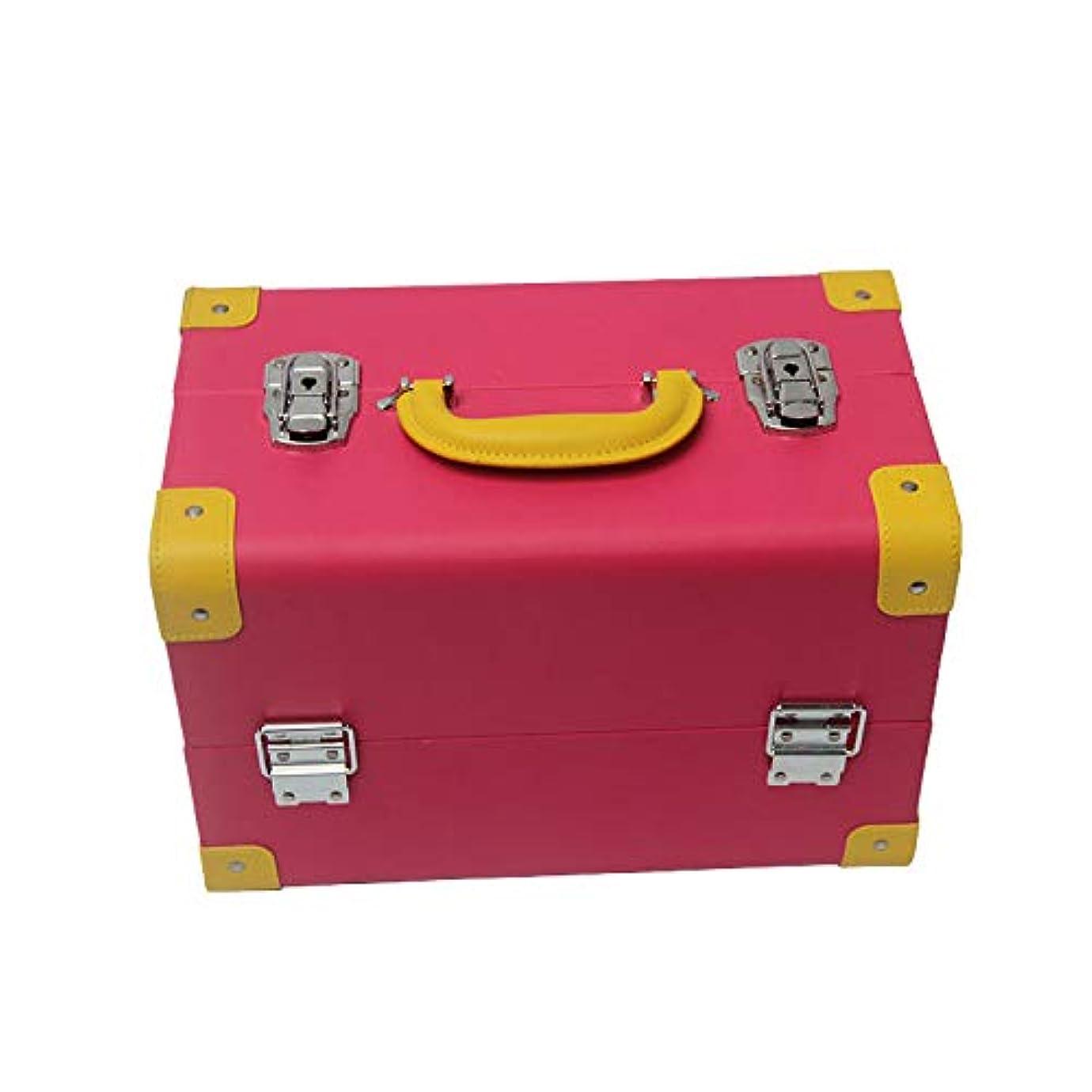 リーチ月面ソブリケットプロの防水化粧品ケース、ポータブル大容量収納ボックス、ダブルロックダブルオープン化粧品袋、家庭旅行に適しています
