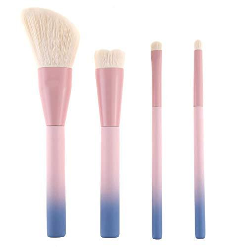 4pcs de maquillage professionnel brosse maquillage des cheveux synthétiques haut de gamme Brosse de teint en poudre fard à paupières Contour Blending Brosses essentielles Make Up Outils
