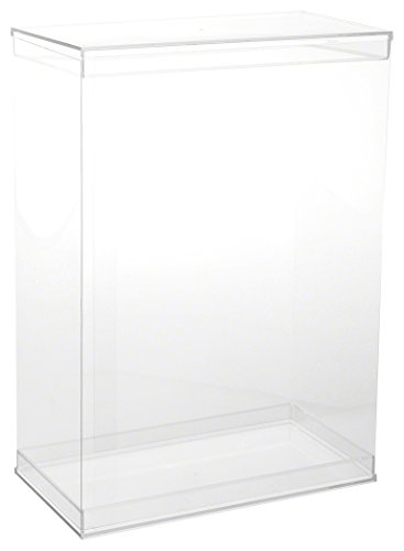 """DollSafe Deluxe Clear Folding Display Case with Acrylic Top and Base for 11-12 inch Dolls or Action Figures, 9.5"""" W x 5"""" D x 13"""" H, Pack of 2"""
