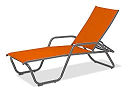 small 4 positions of everyday furniture in the Gardenella Sling Collection aluminum chaise longue, …