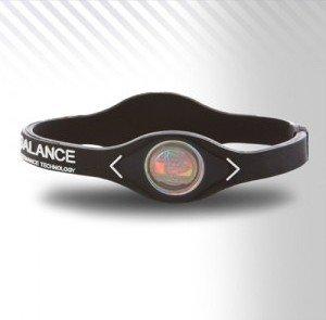 Power Balance PowerBalance Silicone Wristband Armband Black-White XL