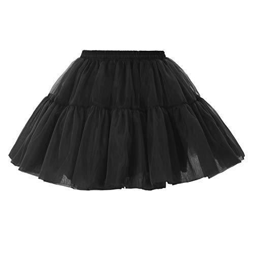 Tüllrock 50s Petticoat Vintage Retro Unterröcke Damen Tutu Rock Frauen für Petticoat Kleid Größe S BP2148-1