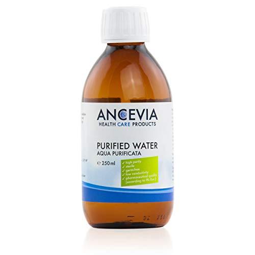 ANCEVIA® Pharmazeutisches Wasser 250ml - Ph. Eur. zertifiziert - für E-Liquids, Kosmetik, Verdünnung - steril & hochrein - Aqua purificata - MADE IN GERMANY (250ml)
