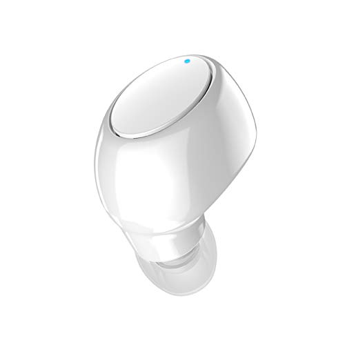 AchidistviQ Mini Bluetooth 5.0 Auriculares Internos Inalámbricos Individuales Impermeables IPX5 Auriculares Deportivos Impermeables Y A Prueba De Lluvia para Correr Gym Bulit In Mic Blanco