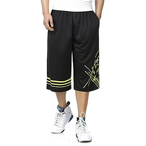 YUEMO Pantalones cortos de baloncesto de la NBA para hombre, de verano, 3/4, 3, XL