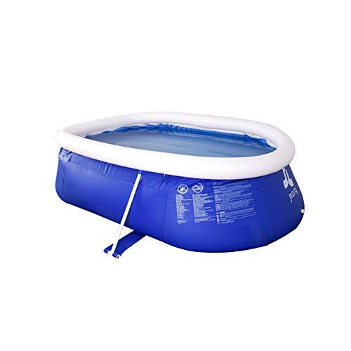 Super11Six Piscina Desmontables, Steel Pro, Pool para Adultos para niños, Piscine Ovalada Grande privada, Steel Frame de Soporte, 104x74.8x31.5 Inch- 3600 litros,Azul,265 x 190 x 80cm