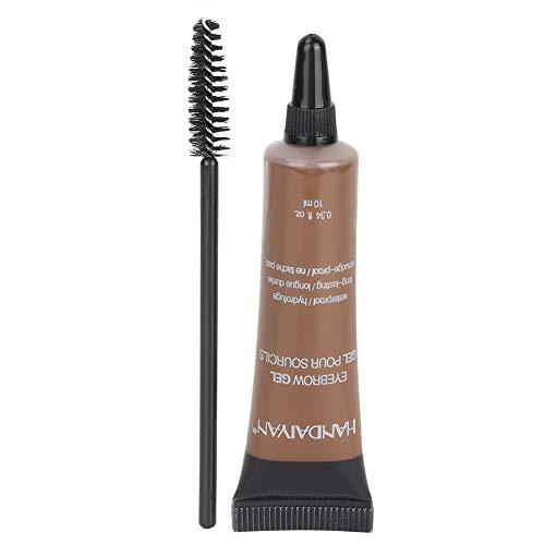 Semme Eyebrow Liner Cream avec pinceau, gel pour sourcils professionnel Teinture pour sourcils imperméable Gel pour sourcils Teinte Brosse à sourcils Outils cosmétiques(2)