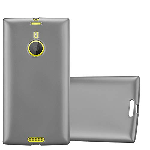Cadorabo Hülle für Nokia Lumia 1520 - Hülle in METALLIC GRAU – Handyhülle aus TPU Silikon im Matt Metallic Design - Silikonhülle Schutzhülle Ultra Slim Soft Back Cover Hülle Bumper