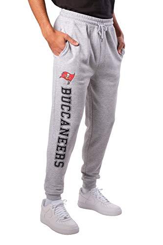 Ultra Game NFL Tampa Bay Buccaneers Mens Active Jogger Sweatpants, Heather Gray 19, Medium