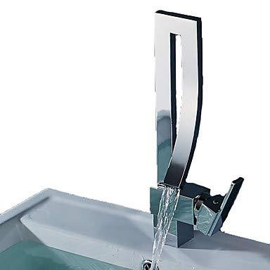 Mangeoo Waschbecken Wasserhahn - Wasserfall Wasserfall Wasserhahn in Chromstahl