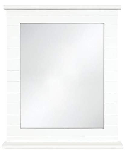 Innova M06461 Beachcomber Rectangulaire Miroir avec Étagère Blanc 40 x 32 cm