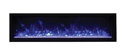 Amantii Panorama Indoor/Outdoor Extra Slim Built in Electric Fireplace (BI-60-XTRASLIM), 60-Inch