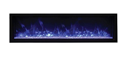 Amantii Panorama Indoor/Outdoor Extra Slim Built in Electric Fireplace...