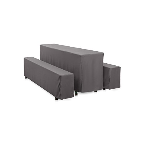 Hans-Textil-Shop Hussen-Set 220x50 cm Grau Polyester Bodenlang