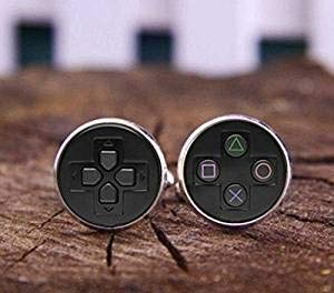 Gemelos de controlador de videojuegos, gemelos para jugar, gemelos personalizados, gemelos de control de juego para hombres