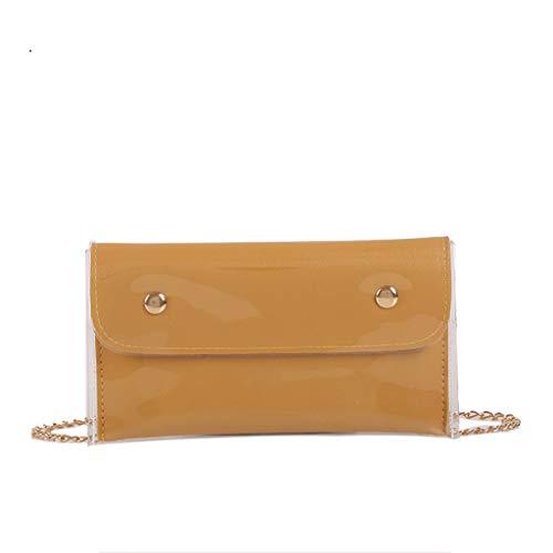 Sameno Clear Bag ✿ Womens Jelly Messenger Transparent Crossbody Shoulder Bag Waterproof PVC Plastic Makeup Bag