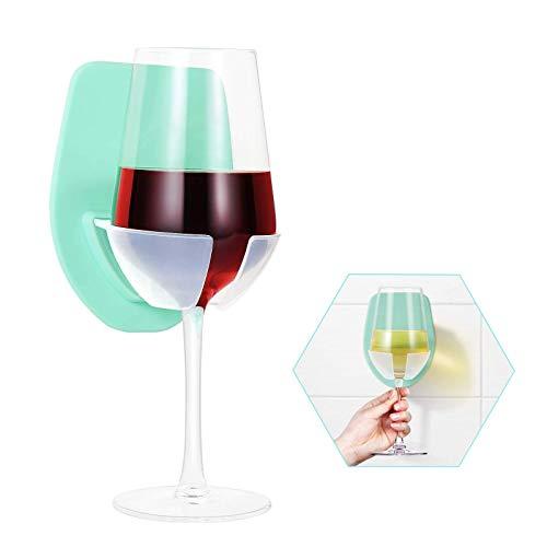 Badezimmer Weinglashalter Hochwertiger Weinglashalter aus Kunststoff Weinglashalter grün Multifunktionaler Weinglashalter für Badezimmer Badewanne Wand Weinglashalter für Badezimmer Schlafzimmer Büro