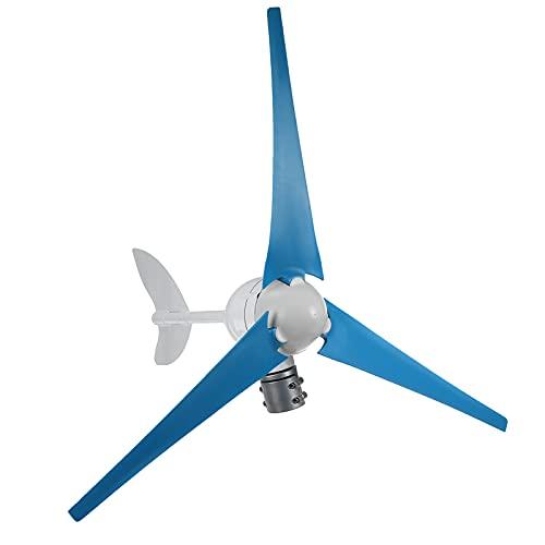 CHIXIA 400W 12V Generatore di Turbine Eoliche 24v Tipo Cerchio Piccolo Mulino A Vento con Controller per Uso Domestico-Blue 24v