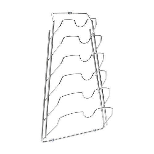 Organize It All Metal Pot Lid Rack