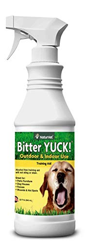 NaturVet – Bitter Yuck - No Chew Spray – Deters Pets from Chewing on Furniture, Paws, Wounds &...