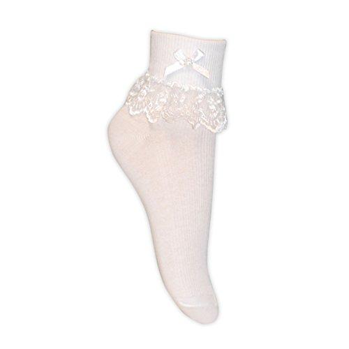 Calcetines con puntillas para niña, varias tallas.  blanco White 3 Pairs