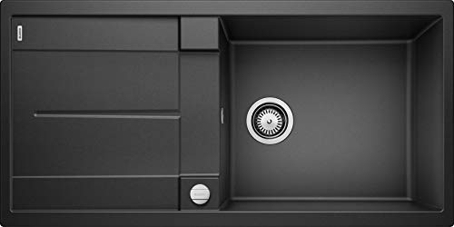 BLANCO METRA XL 6 S - Rechteckige Granitspüle für die Küche - für 60 cm breite Unterschränke - Mit extra großem Becken - aus SILGRANIT - grau - 515286