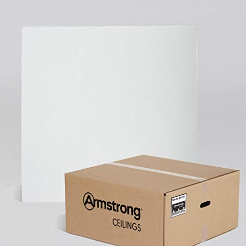 Armstrong Ceiling Tiles; 2x2 Ceiling Tiles – HUMIGUARD Plus Acoustic Ceilings for Suspended Ceiling Grid; Drop Ceiling Tiles Direct from the Manufacturer; ULTIMA Item 1910 – 12 pcs White Lay-in