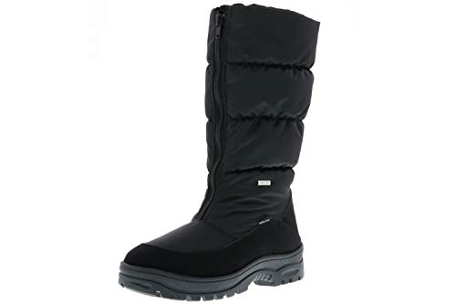 Vista Damen Winterstiefel Snowboots EISKRALLEN schwarz, Größe:39;Farbe:Schwarz