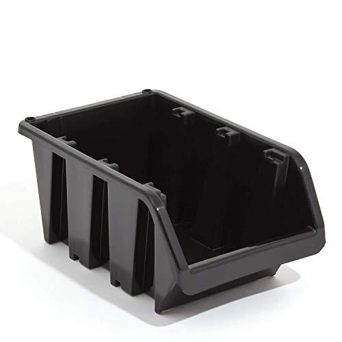 Prosperplast – EN-Gehege stapelbar Aufbewahrung Bin Schwarz Größe 1115 x 80 x 60 mm
